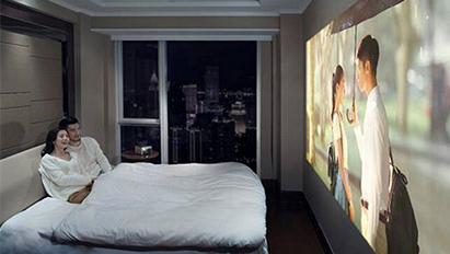 无屏电视满足你在家中也能拥有大屏观影的体验